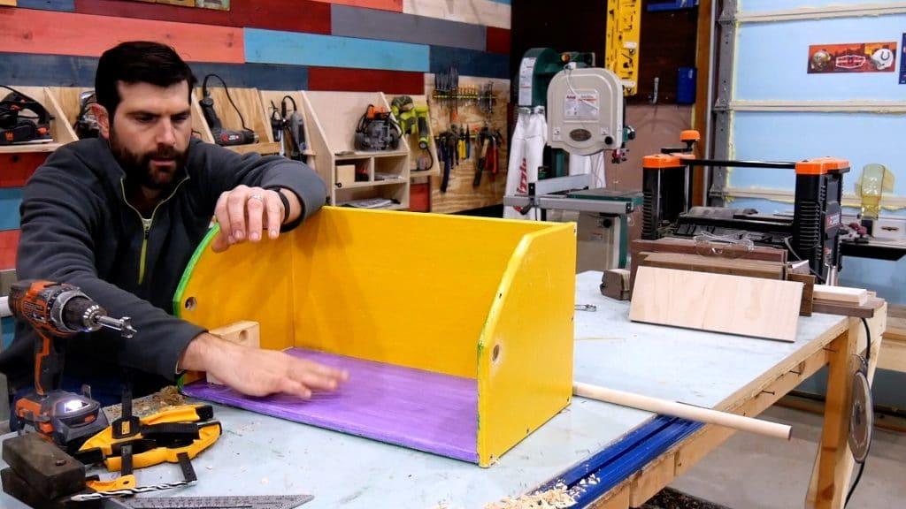 Mardi Gras Ladder Chair - Dowel Holes
