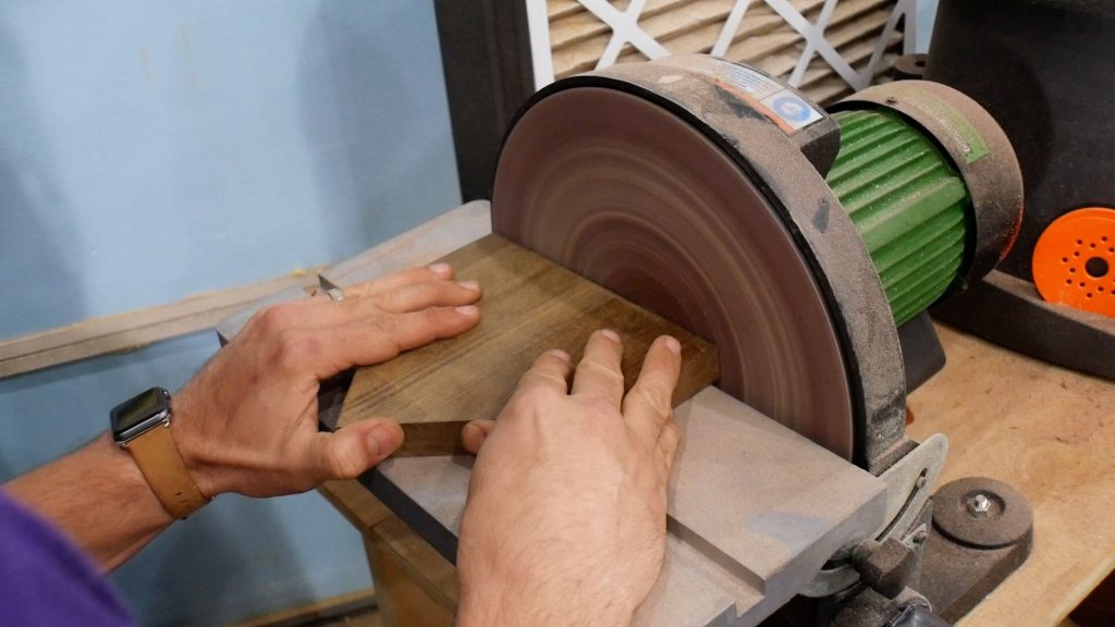 baseball lamp remove excess material from home plate on disc sander
