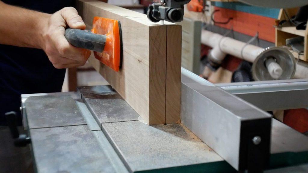resaw wood on bandsaw