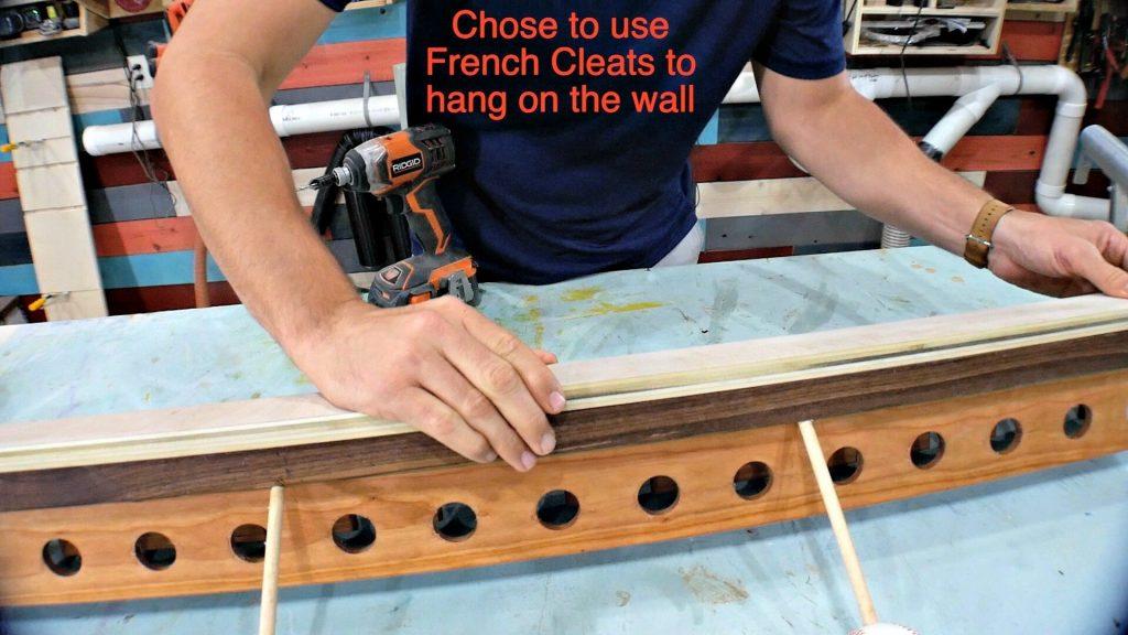baseball bat holder mount on wall