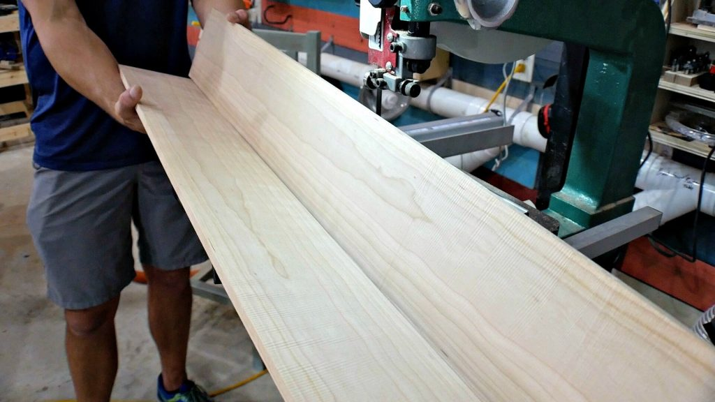 bookmatched wood after resaw
