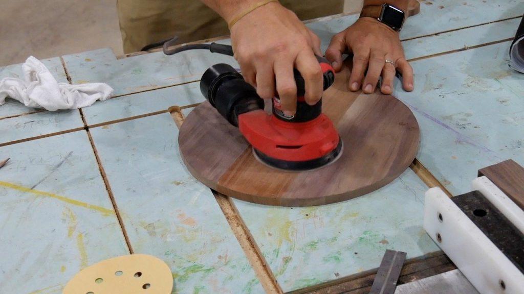DIY Pizza Peel - 12.3 - Orbital Rough Sanding