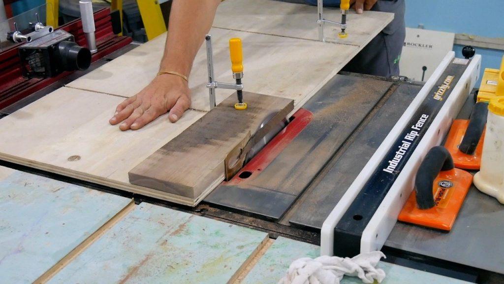 DIY Pizza Peel - 3 - jointer sled