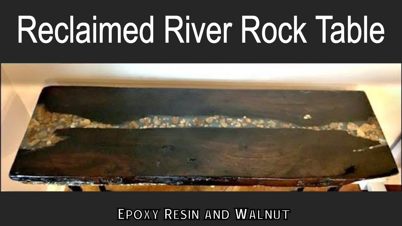 epoxy resin river rock table video tutorial
