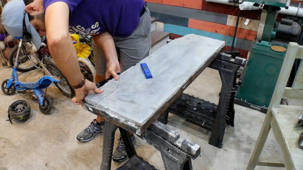 Walnut River Table - Broken Concrete Fix