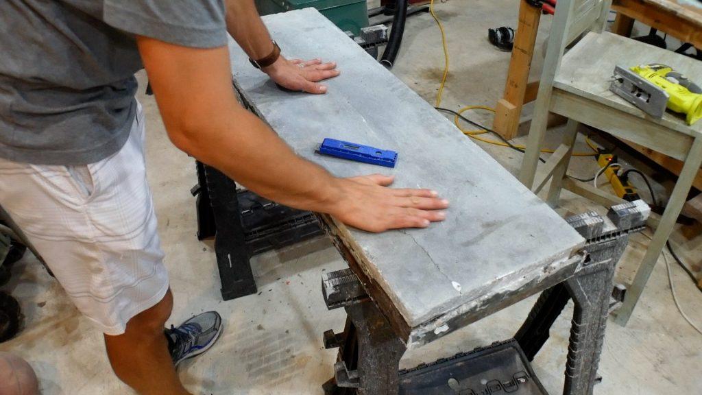Walnut River Table - Broken Concrete Fix 2
