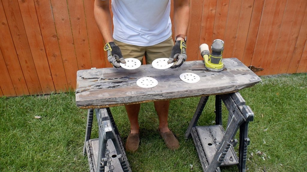 Walnut River Table - FInal Sanding Grits