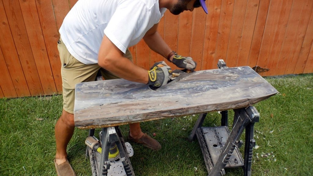 Walnut River Table - Final Planing