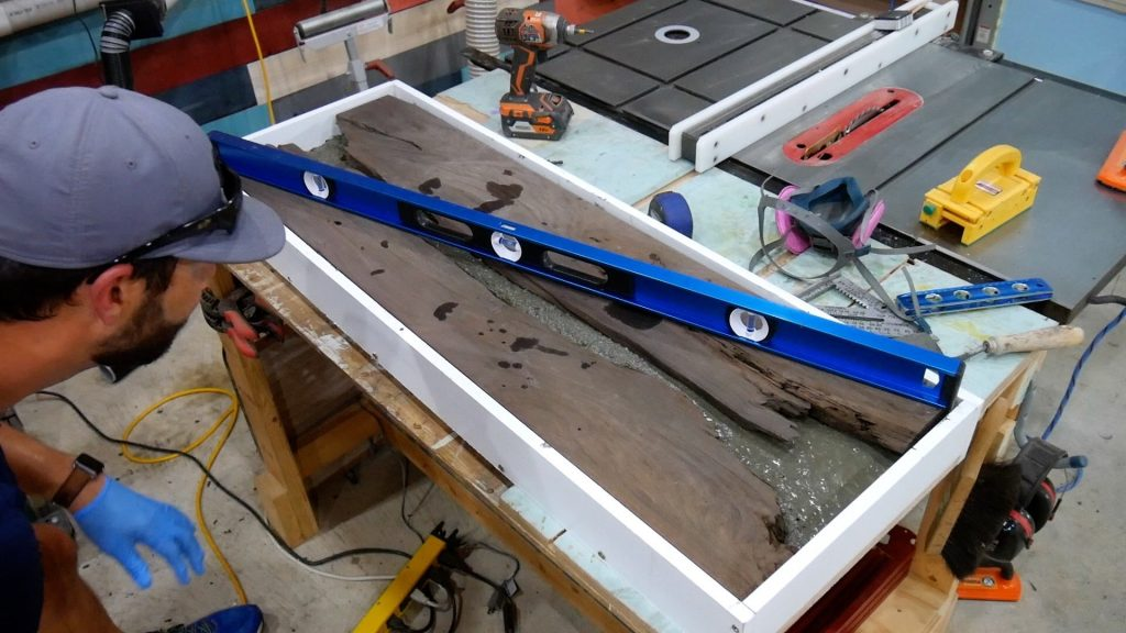 Walnut River Table - Level Concrete