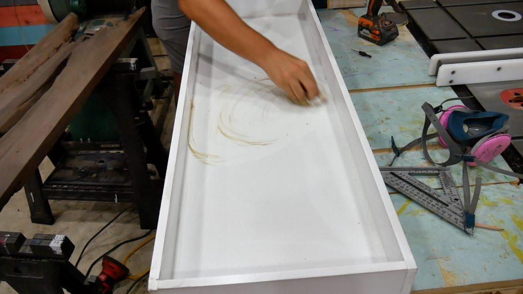 Walnut River Table - Paste Wax