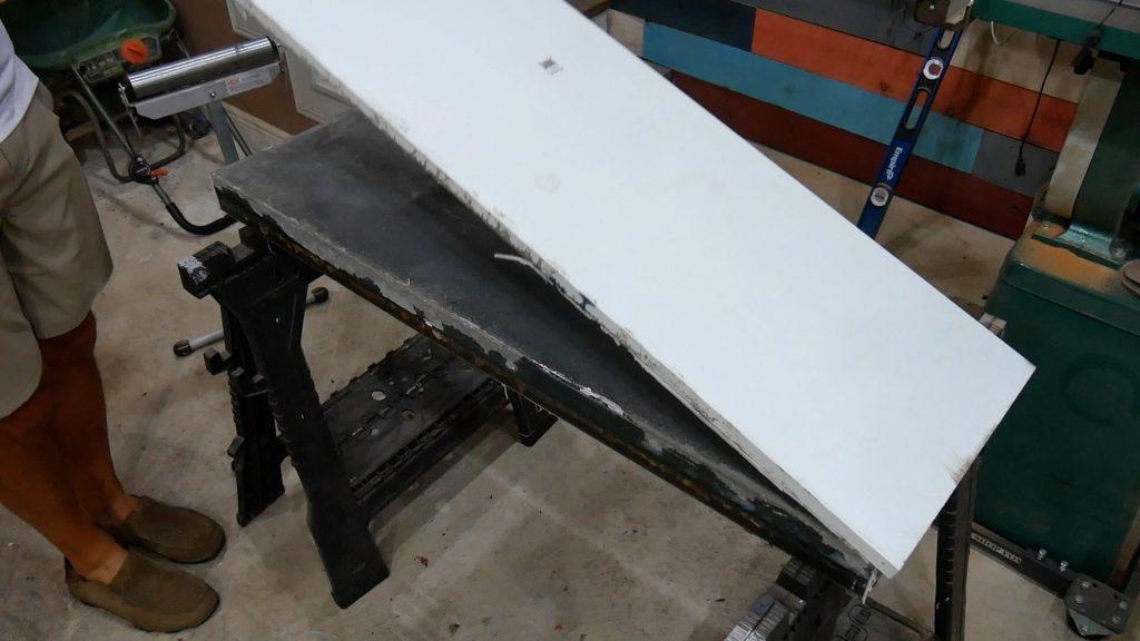 Walnut River Table - melamine remove bottom