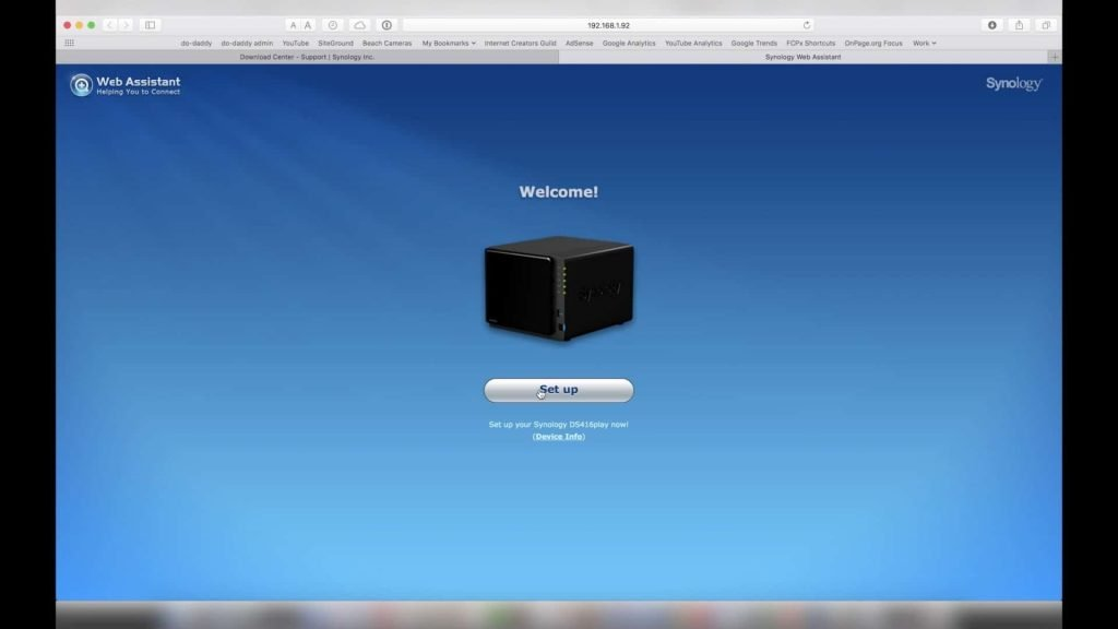 Synology DS416play Initial Setup