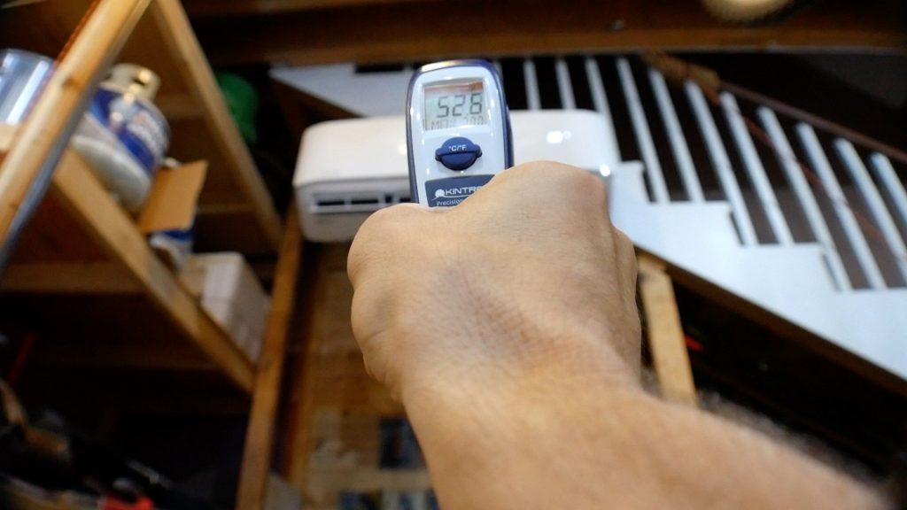Mr Cool DIY 18k IR thermometer test