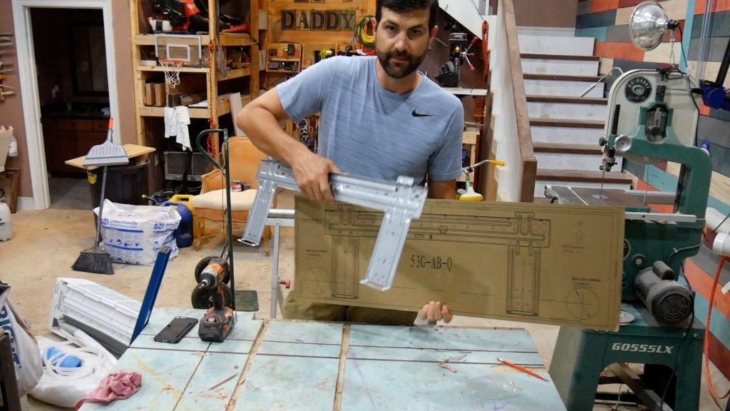 DIY Mini Split Inside Unit Bracket Assembly
