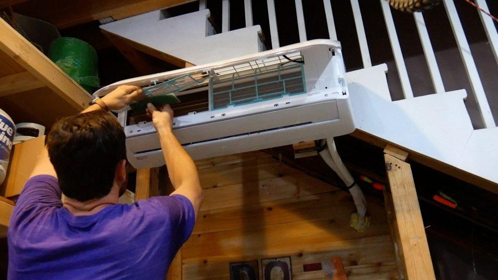 Mr Cool DIY 18k filter install