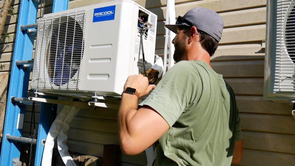 DIY Mini Split Installation Make electrical Connection