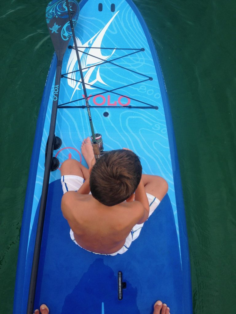 Paddle Boarding in Destin Florida - Yolo Blue Marlin Fishing Board