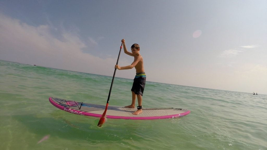 Paddle Boarding in Destin Florida - Shane's First Time Paddle Boarding