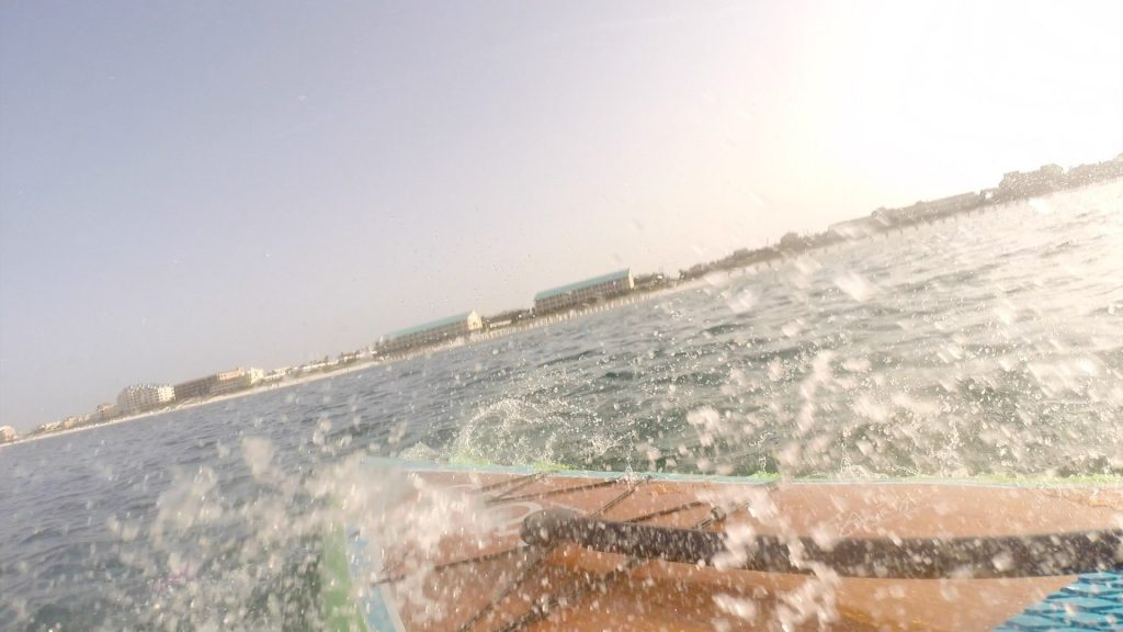 Paddle Boarding in Destin Florida - Falling on Sharks