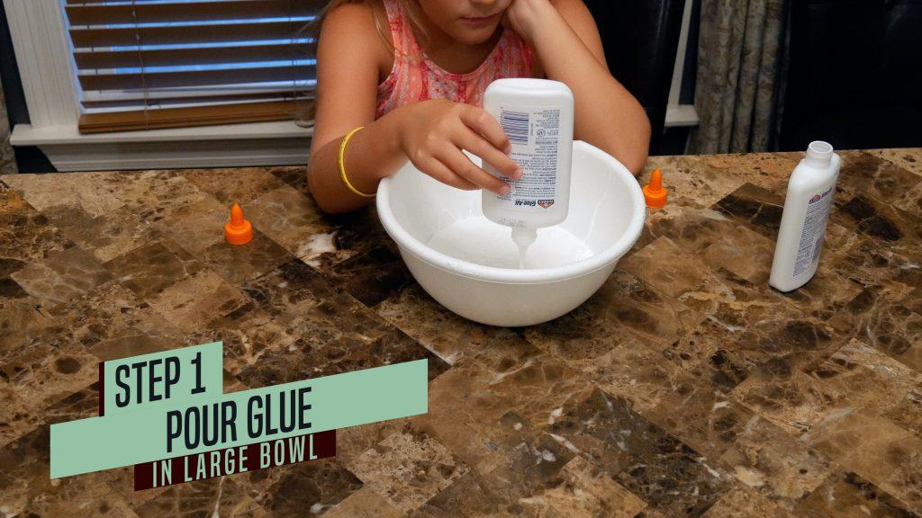 How to Make Jiggly Slime - Step 1 Add Glue