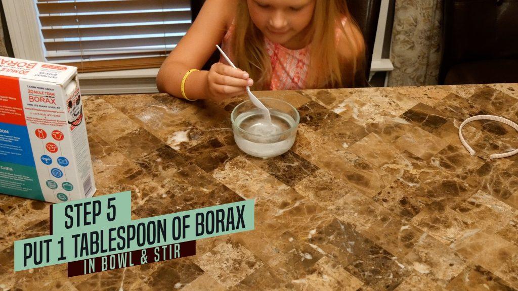 How to Make Jiggly Slime - Mix Borax