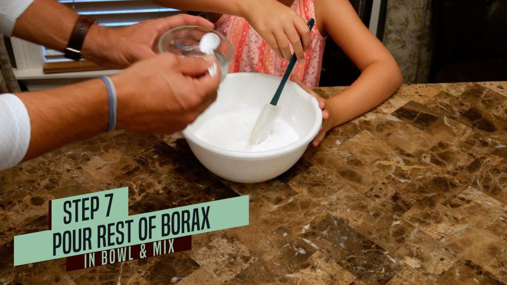 How to Make Jiggly Slime - add last half of borax