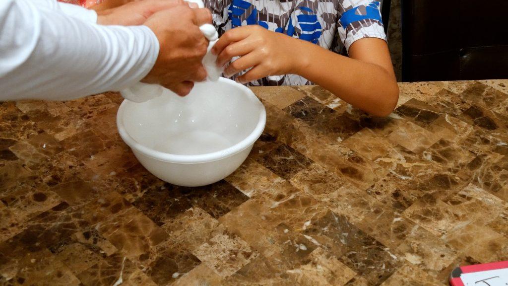 How to Make Jiggly Slime - drain slime