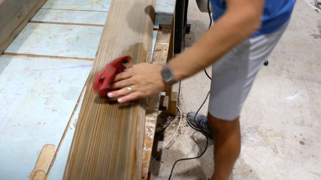raise wood grain