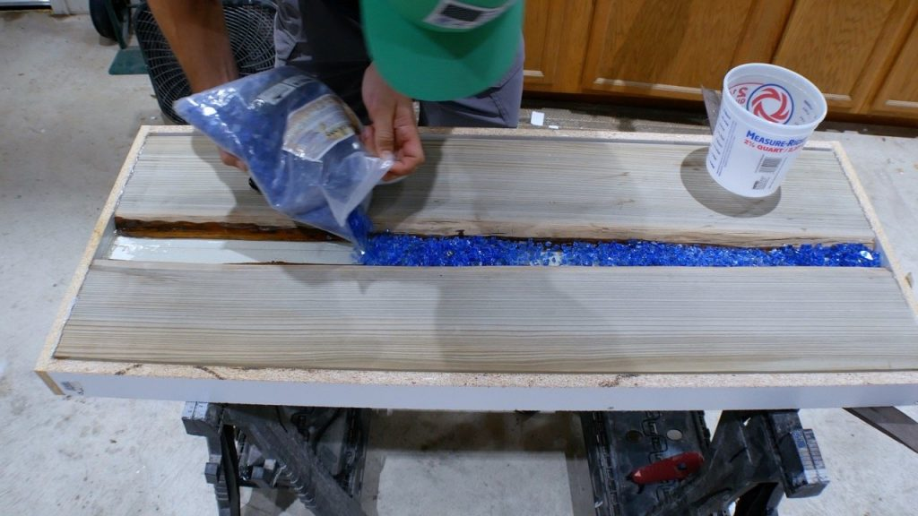 fire glass for river table