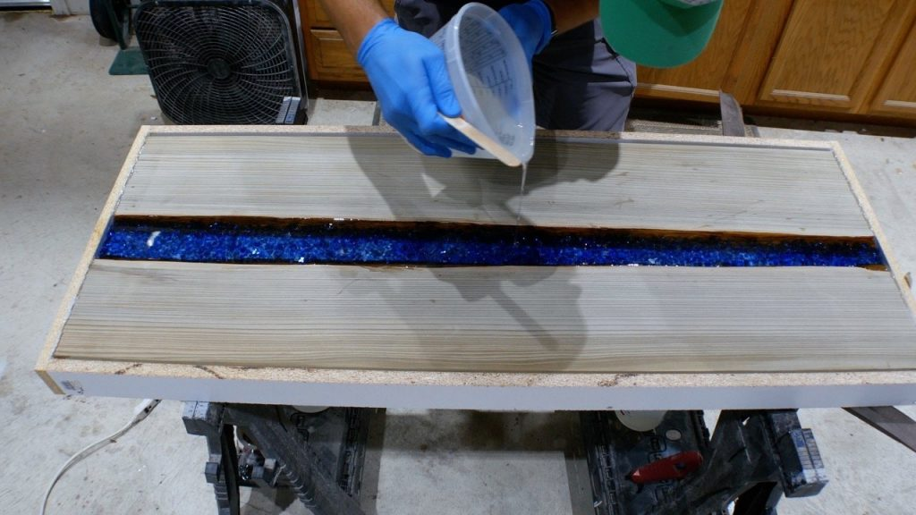 fire glass epoxy pour