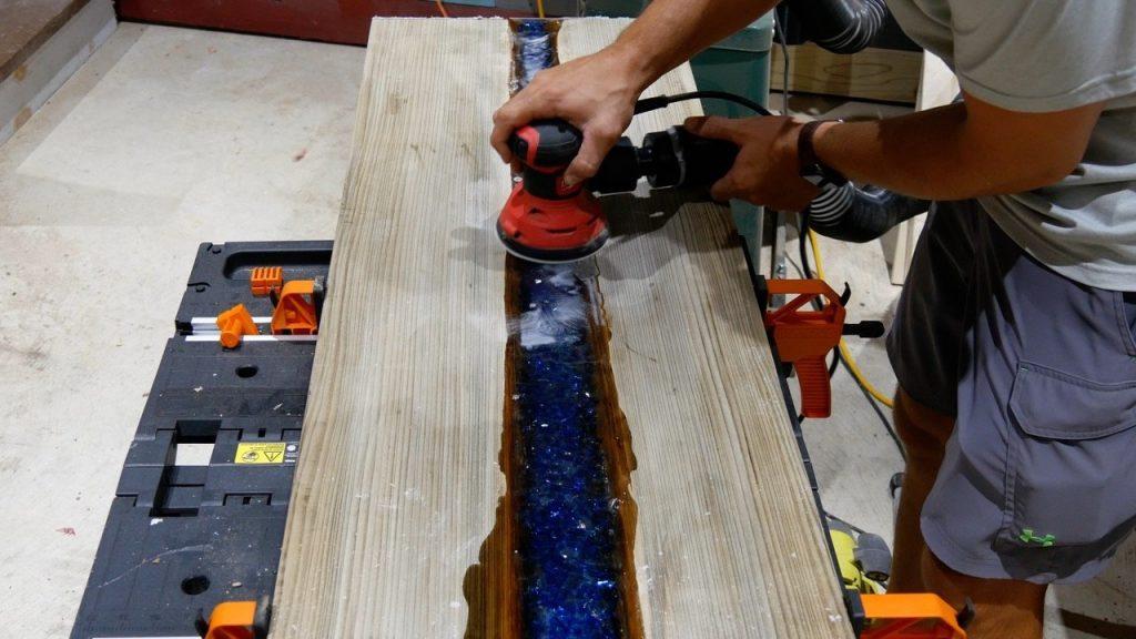 sand led river table