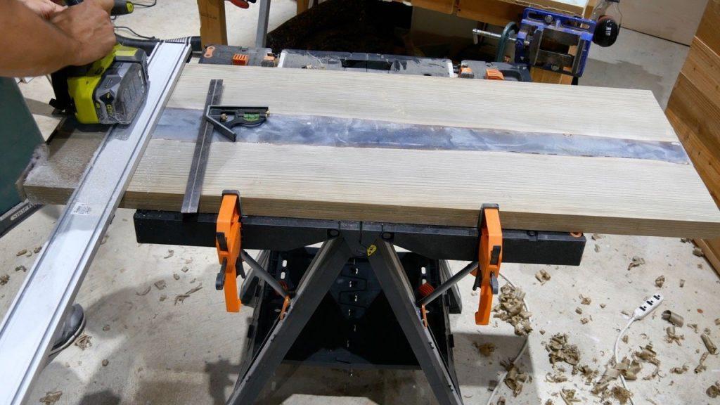 trim ends LED river table