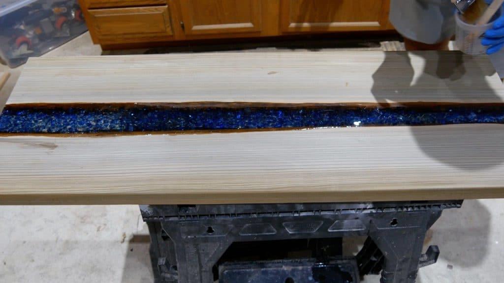 LED Table final resin coat
