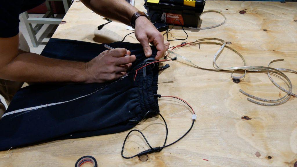 DIY LED Light Costume Incision Battery