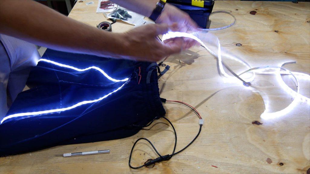DIY LED Light Costume Test