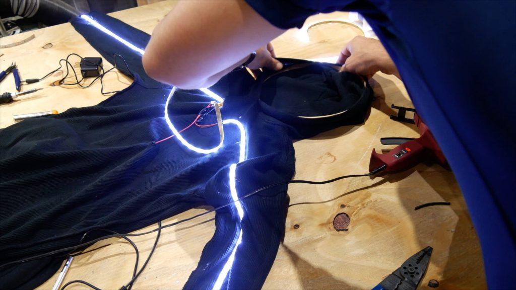DIY LED Light Costume Hood