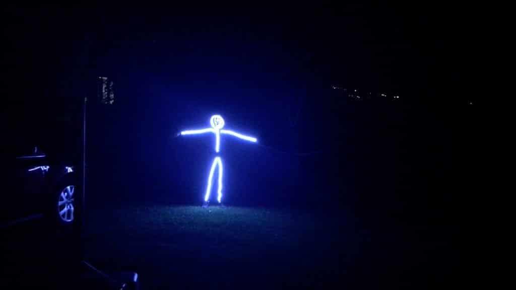 DIY LED Light Costume Display