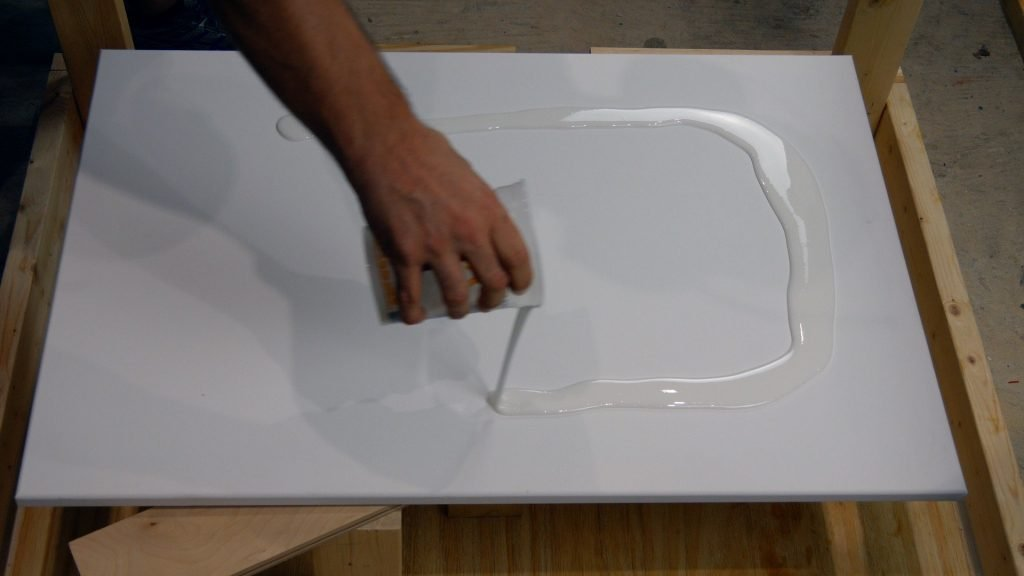 make resin art effects on canvas base color