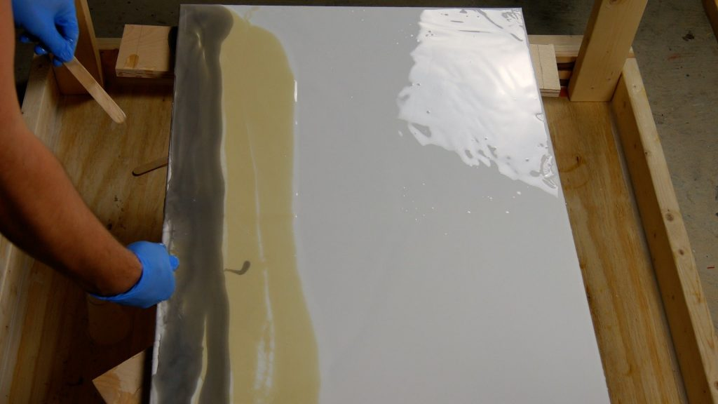 how to make resin art gray color