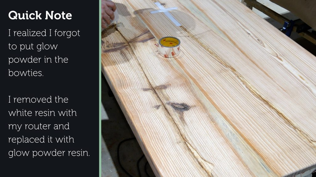 how to make a rustic table with epoxy resin - resin problem