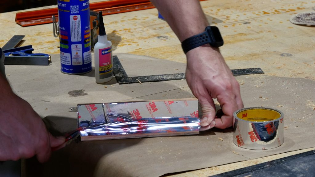 how to make a rustic table with epoxy resin - hvac tape