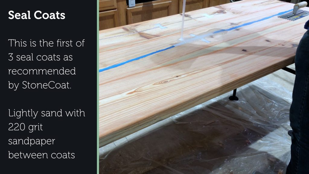 how to make a rustic table with epoxy resin - stonecoat epoxy pour