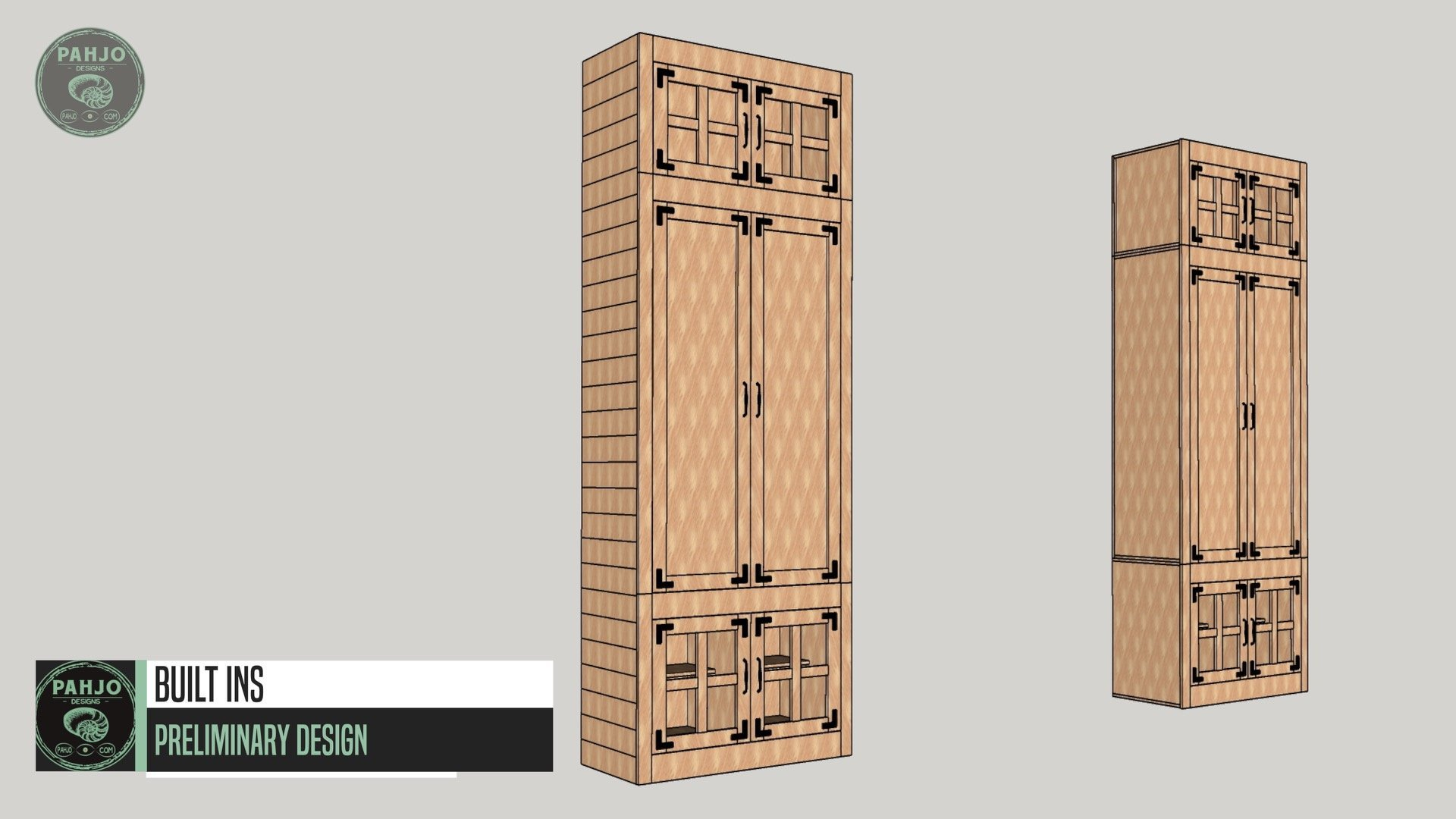 DIY Custom Built In Cabinets Sketchup Drawing