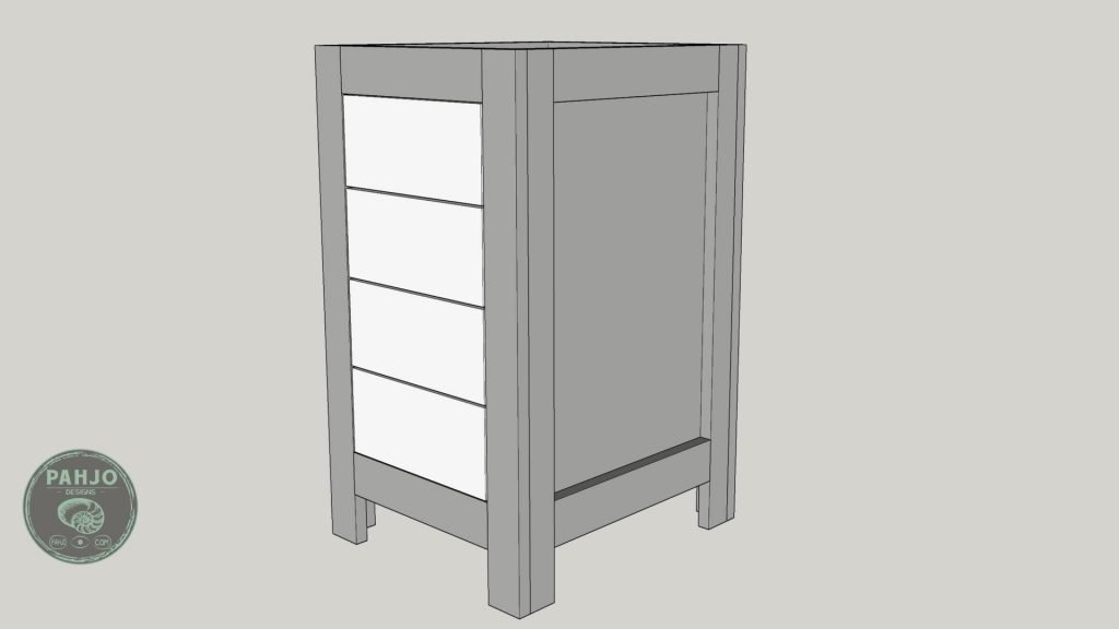 DIY Base Cabinet with Drawers_sketchup drawer face