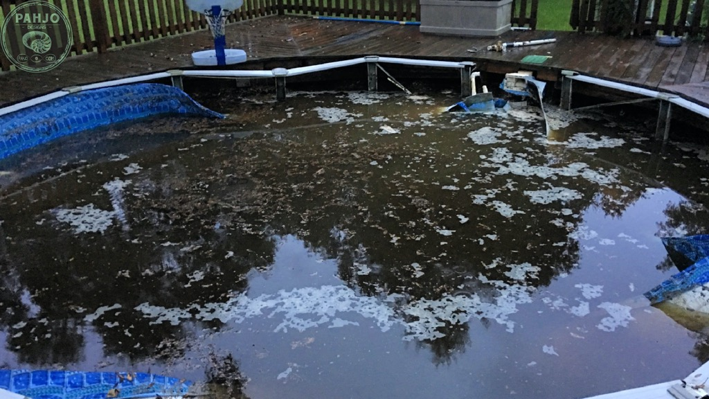 above ground pool collapse