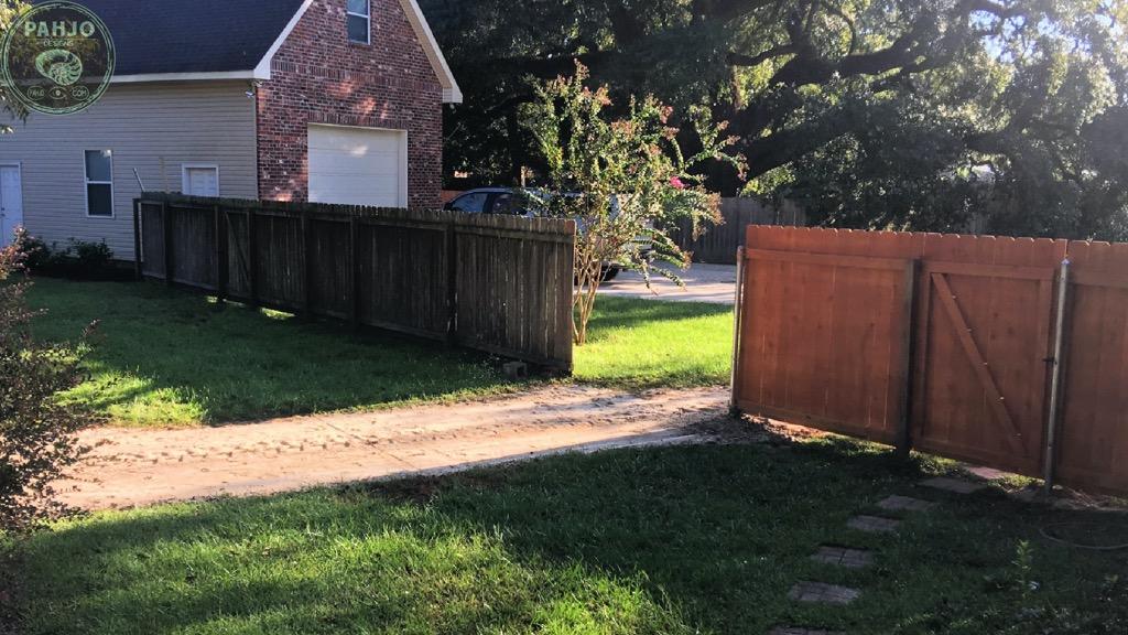 remove cedar fence