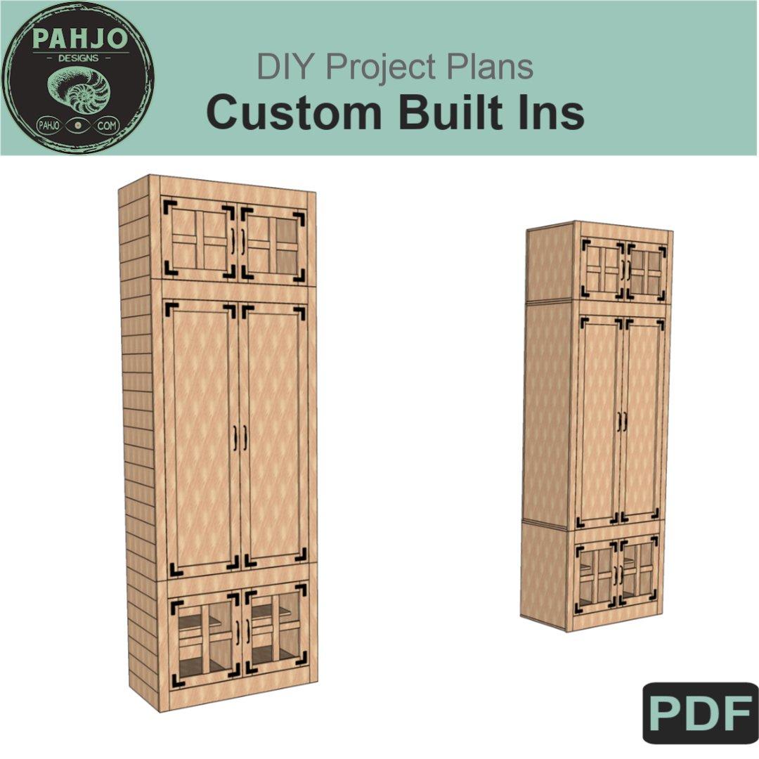 Custom Built In Cabinets Diy Plans Pahjo Designs