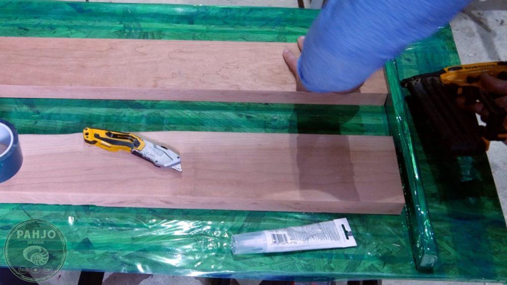 DIY Wood and Resin Wall Art - Baseball Storage Rack_wood in resin mold