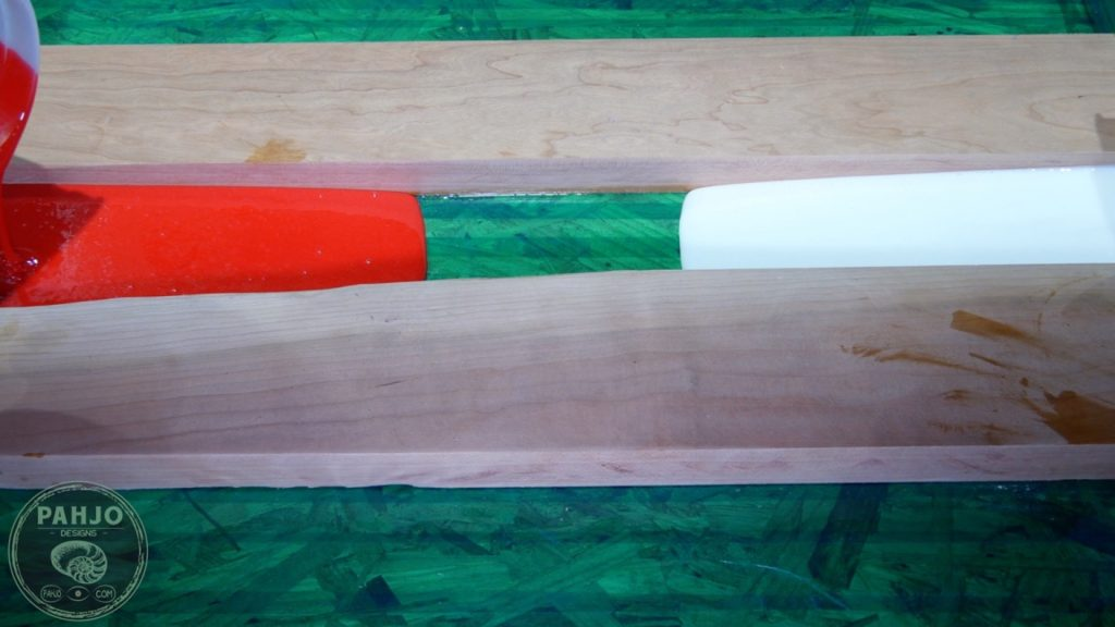 DIY Wood and Resin Wall Art - Baseball Storage Rack_Resin River Pour