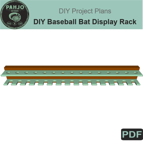 DIY Baseball Bat Display Rack DIY Plans